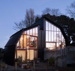 The Houseboat Poole Hamworthy Dorset Exterior Sunset Reflections Levels Terraces Award Winning Holiday Property